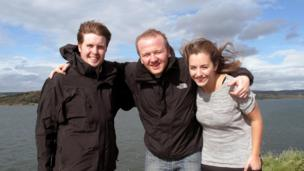 Claire, Stephen and Pete on Incholm Island
