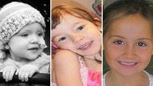 Sadie (l), Emma and Robyn (r)