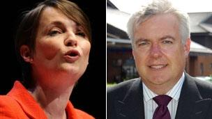 Kirsty Williams and Carwyn Jones