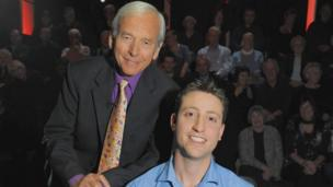 John Humphrys presenting BBC quiz show Mastermind