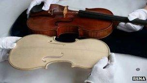 A Stradivarius violin is replicated