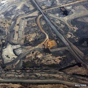 Syncrude tar sands development in Alberta