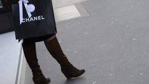 Woman with Chanel bag