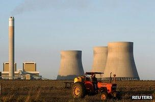Coal-fired power station in South Africa