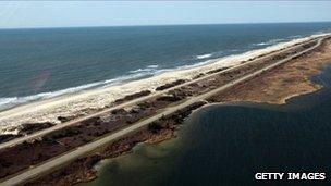 The area near Gilgo Beach on Long Island