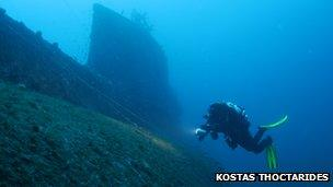 Submarine escape: A WWII survival tale from Kefalonia - BBC News