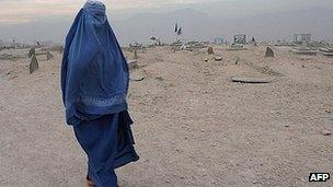 Afghan woman in Kabul (file image)