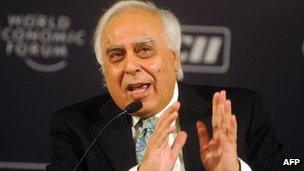 Indian Communications Minister Kapil Sibal