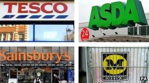 Tesco, Asda, Sainsbury's and Morrisons