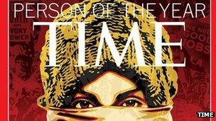 Cover of the Time Magazine Person of the Year 2011