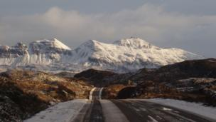 Snow on Quinag