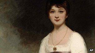 Portrait of Jane Austen by British painter Ozias Humphry
