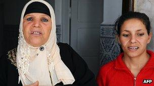 Mohamed Bouazizi's mother and sister