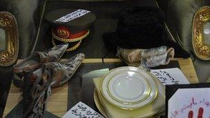Gaddafi memorabilia in Misrata's war museum