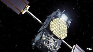 Artist impression of Galileo satellite