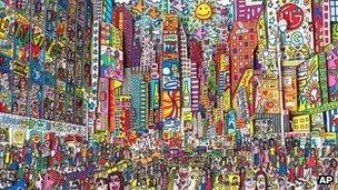 times square everyone should go there by james rizzi