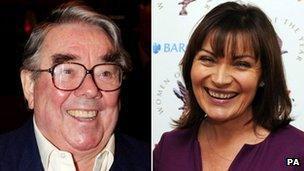 Ronnie Corbett and Lorraine Kelly