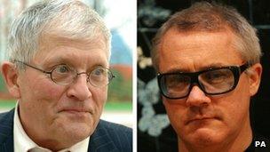 David Hockney and Damien Hirst