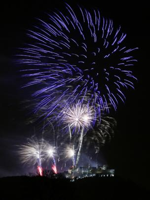 Fireworks over Stirling Castle