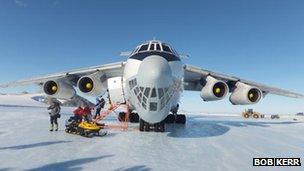 An Illyushion 76 cargo plane