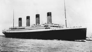 archive photo of the Titanic