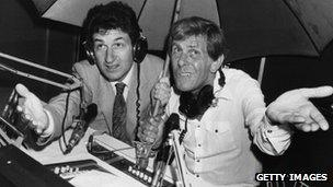 Douglas Cameron and Bob Holness in 1981