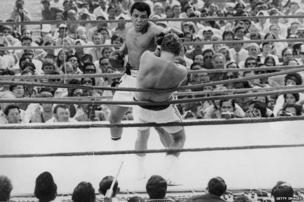 Muhammad Ali and Joe Bugner