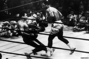 Muhammad Ali and Joe Frazier