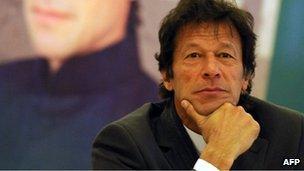 Imran Khan in Islamabad (8 Jan 2012)