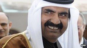 Qatari Sheikh Hamad bin Khalifa Al Thani