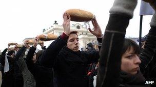 Bulgarian rally in Sofia against fracking, 14 Jan 12