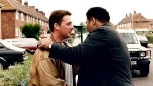 Tyrone Monaghan hugging Ali