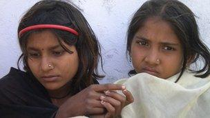 Versha and Pryanka, 11-year-old girls trafficked to work in the cotton fields of Gujarat
