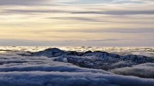 Clouds over An Sgor, Meall Garbh, Meall a' Bharr and Carn Mairg
