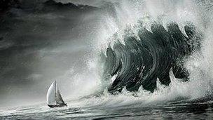 Angry seas impression