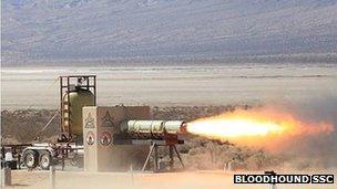 Californian rocket test