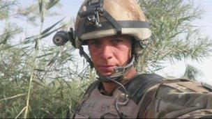 Andrew Garthwaite in Afghanistan