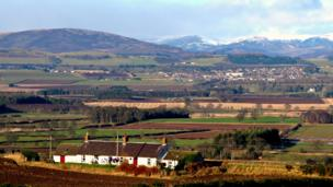 View of the Angus Glens