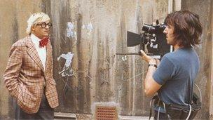 David Hockney and Jack Hazan in New York