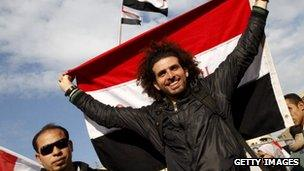 Egypt protestor Feb 2011
