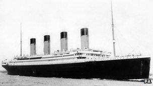 The Titanic sank on her maiden crossing of the Atlantic Ocean