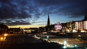 Edinburgh at sunset
