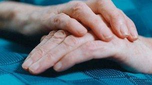 Old person's hands