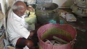A rag-picker in Chennai