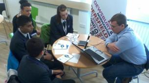 Students from Dixons Allerton Academy, Bradford get interviewing tips from their BBC local radio team