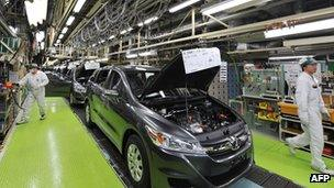 Honda factory in Japan