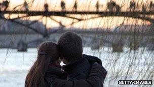 A couple in Paris