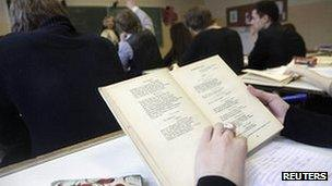 Russian literature lessons in Riga on 15 February 2012