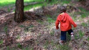 Boy in woods (generic)