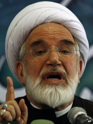 Pro-reform politician Mehdi Karroubi